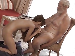 Old Young Fat Cock Grandpa Fucked Teen lick pink cigar
