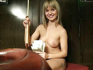 Czech fuckslut boned in the billiards alley