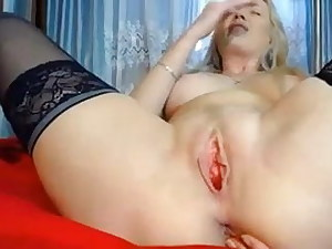 Towheaded rubs pussy with balls in ass