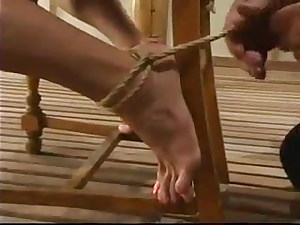 Incredible restrain bondage technique for a big-titted stunner Venus