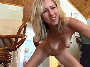glorious blonde masturbates and said hey guys, watch this