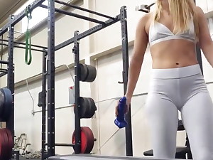 gym slut lilly ford gets sudden workout step sister coup