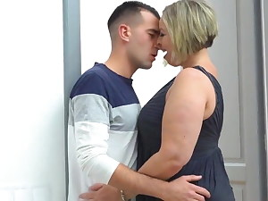 buxomy mommy licks ass and fucks lucky stepson hardcore – fetish