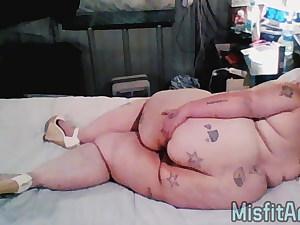 Bbw Naked Photoshoot Labia Play