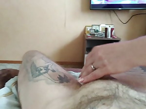 fapping off cock to a powerful shot of cum 2