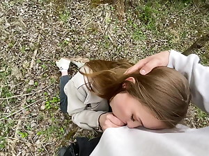 Public blowjob in the forest 3