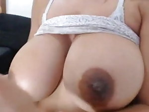 Big lactating melons played with by Columbian