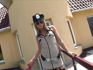 Hier kommt die blonde Ass-fuck Polizei