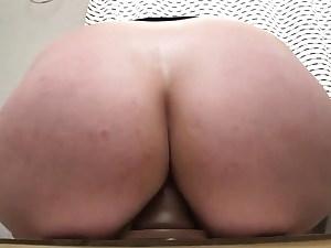 Big Milky Ass Railing Dildo