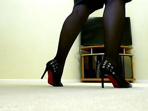 Follow me ! Get under my heel ,slave!