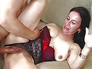 Sexhungry Granny Gets The brush Wooly Vagina Boned
