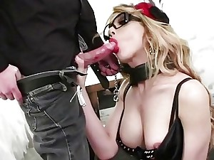 Dominate transsexual Jenna Tales pain in the neck rides on high horseshit